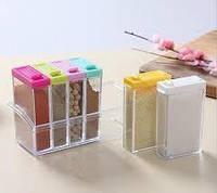 Набор контейнеров для специй Seasoning six piece set на подставке