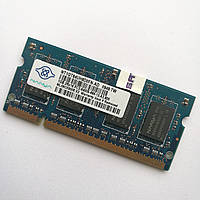 Оперативная память для ноутбука Nanya SODIMM DDR2 1Gb 800MHz 6400S CL6 (NT1GT64UH8D0FN-AD) Б/У, фото 1