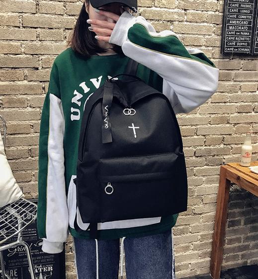 Рюкзак чёрный молодёжный