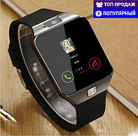 Смарт часы Smart Watch DZ09 Phone Black