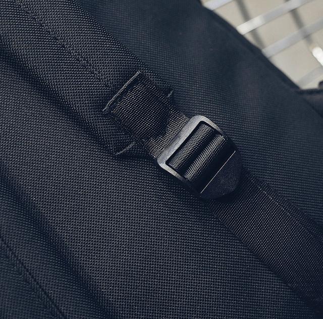 Рюкзак чёрный детальнее сзади