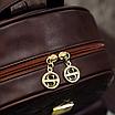 Рюкзак женский из кожзама набор стеганый 3 в 1 Коричневый, фото 8