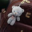 Рюкзак женский из кожзама набор стеганый 3 в 1 Коричневый, фото 7