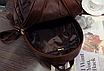 Рюкзак женский из кожзама набор стеганый 3 в 1 Коричневый, фото 6