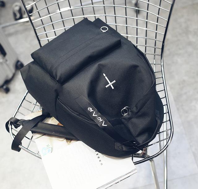 Рюкзак чёрный вид сверху