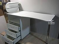 Складной маникюрный стол с ультрафиолетом, стол со стеклянными полочками для лаков. Модель А192, фото 1