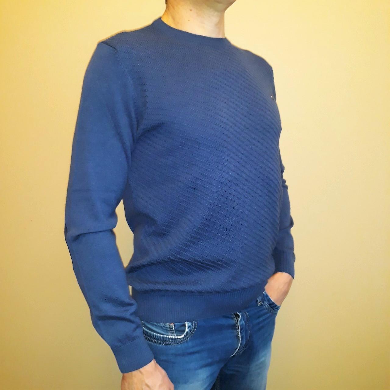 6c6a0254e03 Синий мужской джемпер Tony Montana (Турция)  продажа