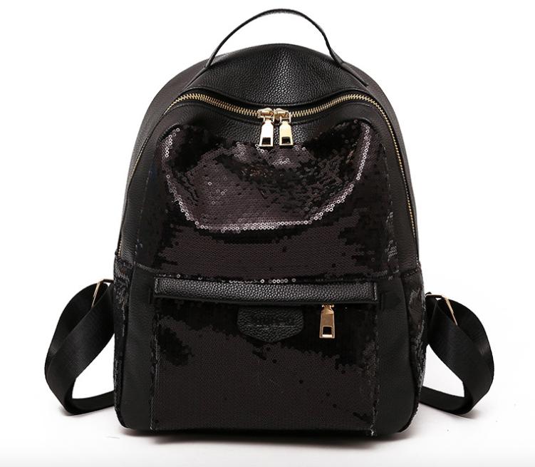 Рюкзак женский Style с пайетками Черный