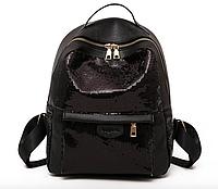 Рюкзак женский Style с пайетками Черный, фото 1