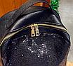 Рюкзак женский Style с пайетками Черный, фото 6