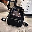 Рюкзак женский Style с пайетками Черный, фото 4