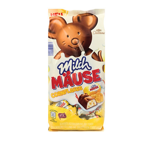 Шоколадные конфеты Milch Mause c хлопьями