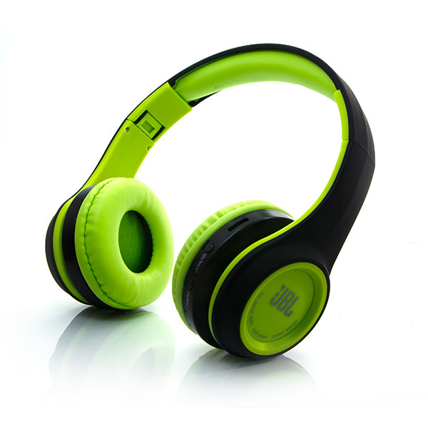 Беспроводные Bluetooth наушники JBL MS 991 A зеленые складные с FM-радио и MP3 плеером контроль плеера блютуз