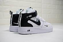 """Кроссовки Nike Air Force 1 Mid '07 LV8 Utility Pack """"White/Black"""" (Белые/Черные), фото 3"""