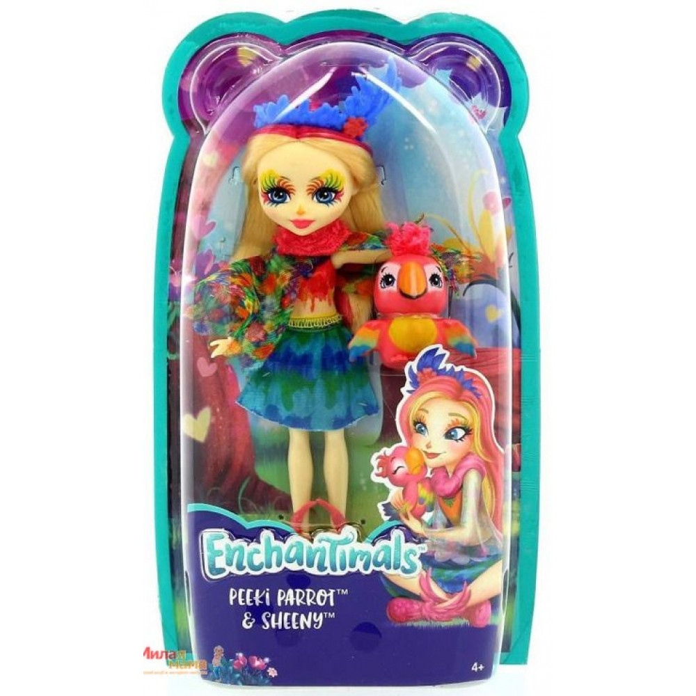 Enchantimals. Кукла с любимым питомцем, PEEKI PARROT™ (FJJ21-FNH22)