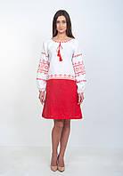 """Современное платье вышиванка """"Волынская коллекция"""", лен, арт. 4507, фото 1"""