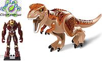 Динозавр Тирекс с большой фигуркой Лего Длина 29 см. Аналог Лего. Конструктор динозавр, фото 1