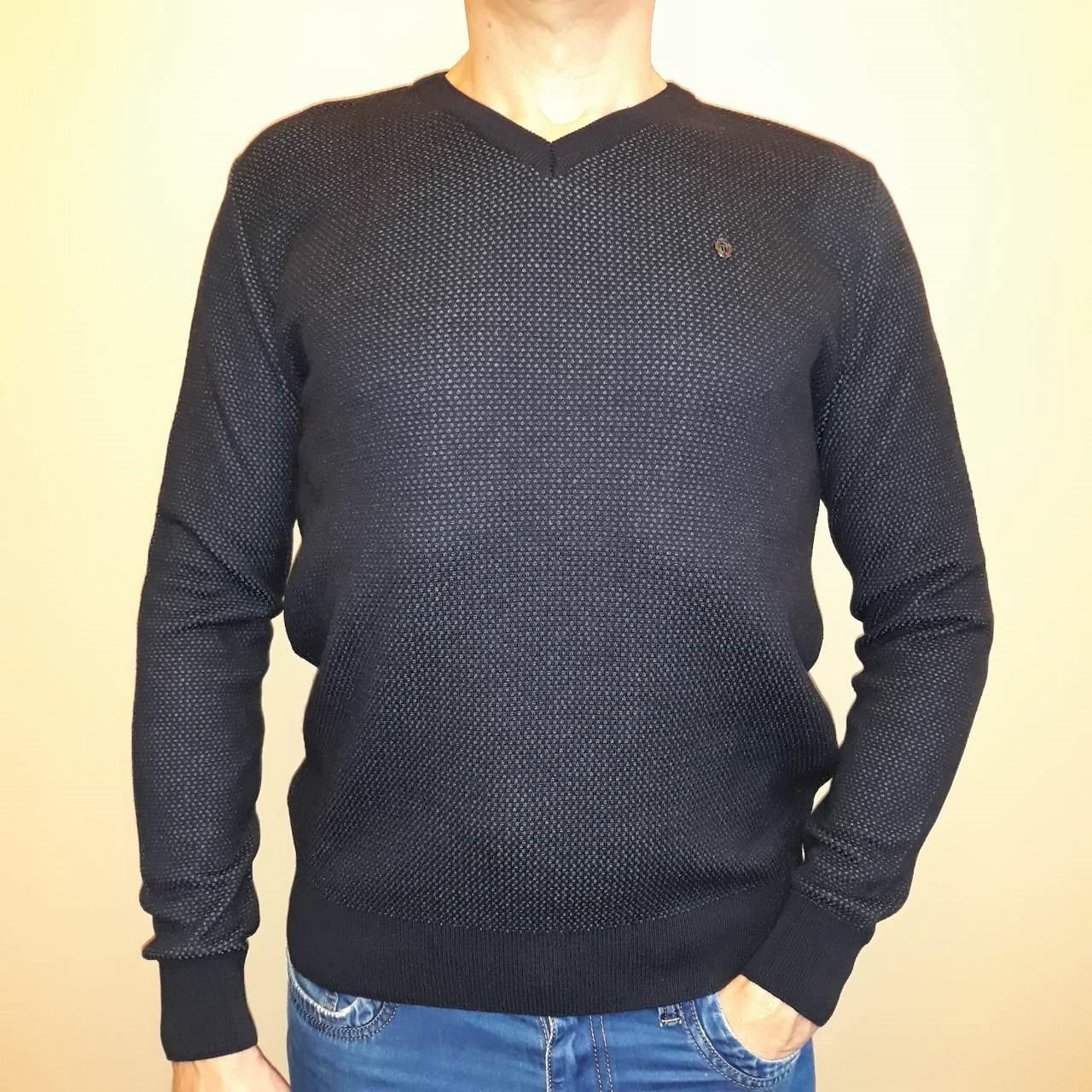 5f7fb7ff183 Пуловер мужской цвета индиго Tony Montana  продажа