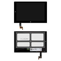 Дисплейный модуль (экран и сенсор) для Lenovo Yoga Tablet 2-1051 LTE, черный, оригинал