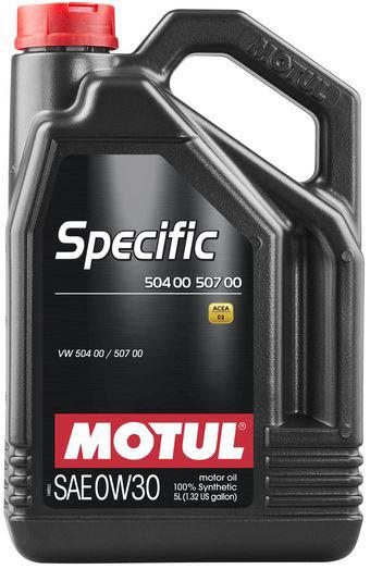 Моторное масло для автомобилей MOTUL 0W30 Specific VW 504.00 507.00 5 л (107050)