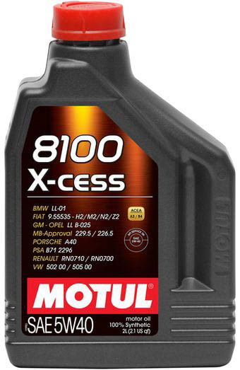 Моторное масло для автомобилей MOTUL 8100 X-cess 5W-40 2 л (102869)
