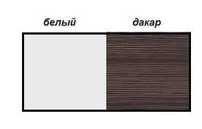 Ліжко 2-сп Круїз 1,8 Білий/Дакар (Світ Меблів TM), фото 3