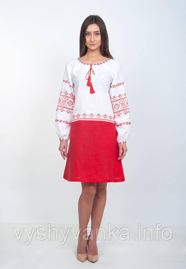 льняное платье вышиванка волынская коллекция