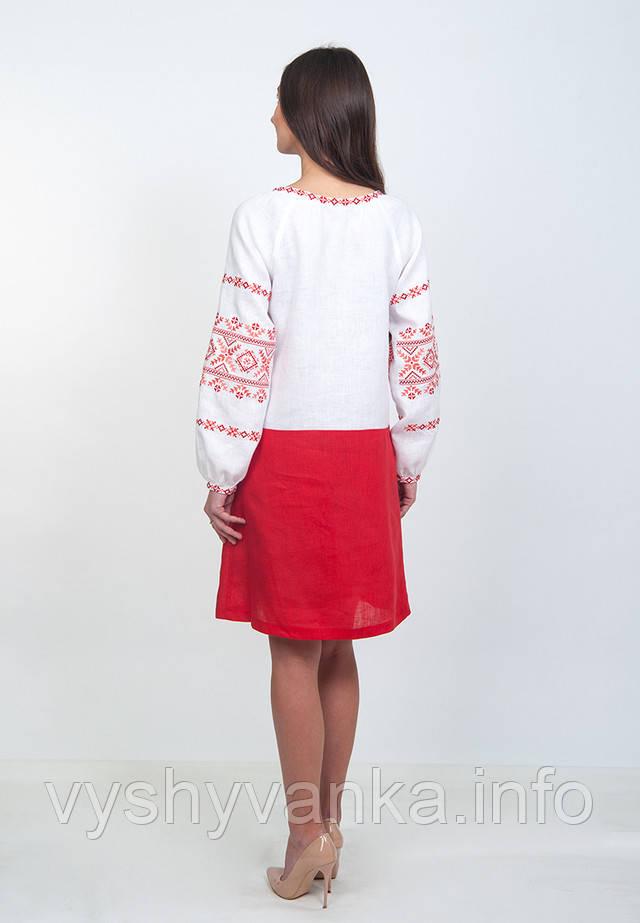 современная вышиванка льняное платье волынская коллекция
