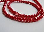 Перлини скляні  4 мм червоні (50 шт.), фото 2