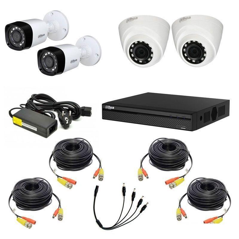 Комплект відеоспостереження на 4 камери 720P Dahua KIT-CV4HD-2B / 2D