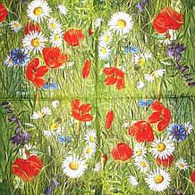 Декупажний серветка Польові квіти 3737
