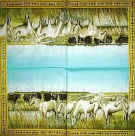 Декупажная салфетка Табун белых лошадей 4117