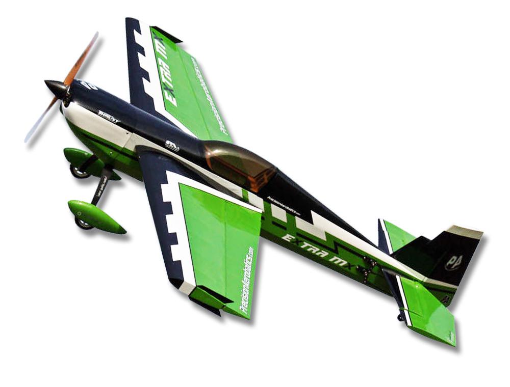 Самолёт р/у Precision Aerobatics Extra MX 1472мм KIT (зеленый) 2711132218291