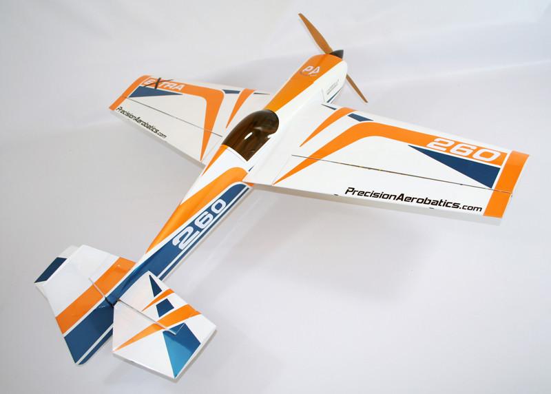 Самолёт р/у Precision Aerobatics Extra 260 1219мм KIT (желтый) 2711117789419