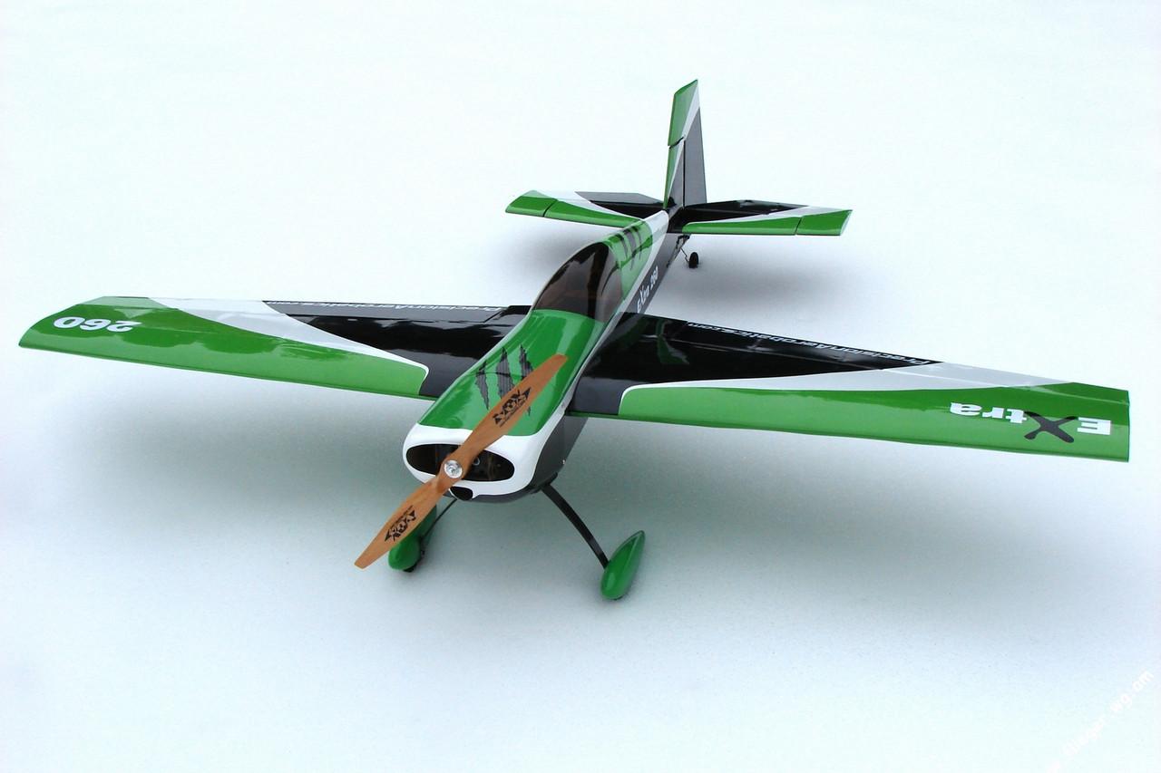 Самолёт р/у Precision Aerobatics Extra 260 1219мм KIT (зеленый) 2711263149457