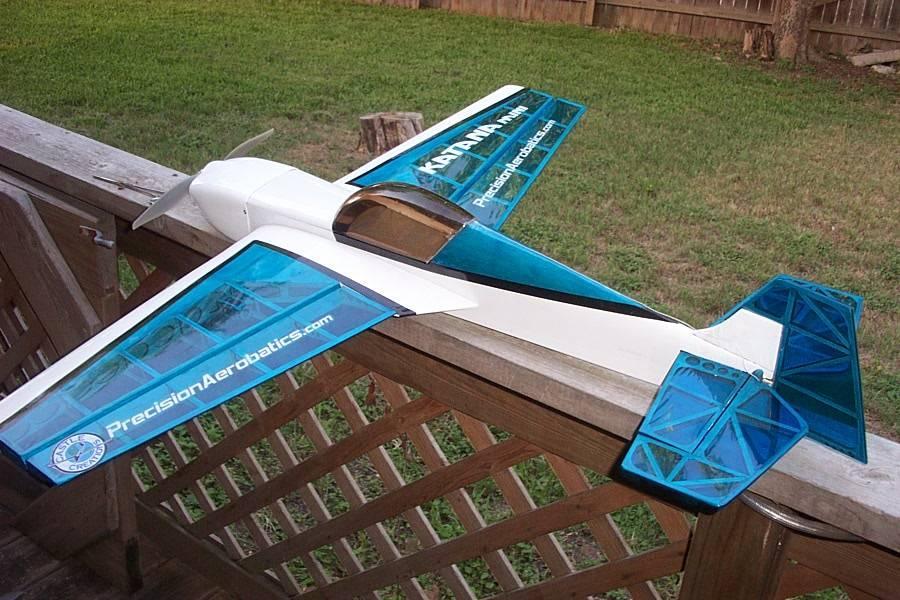 Самолёт р/у Precision Aerobatics Katana Mini 1020мм KIT (синий) 2711151922452