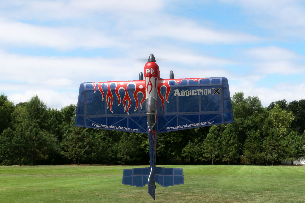 Самолёт р/у Precision Aerobatics Addiction X 1270мм KIT (синий) 2711263136341