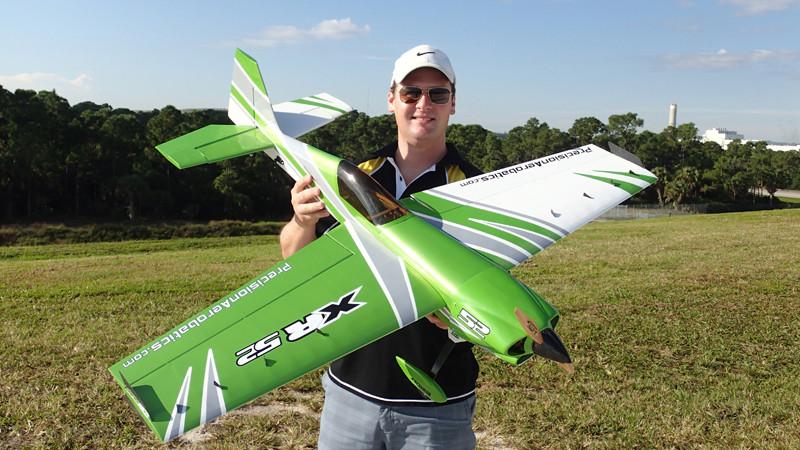 Самолёт р/у Precision Aerobatics XR-52 1321мм KIT (зеленый) 2711873447516