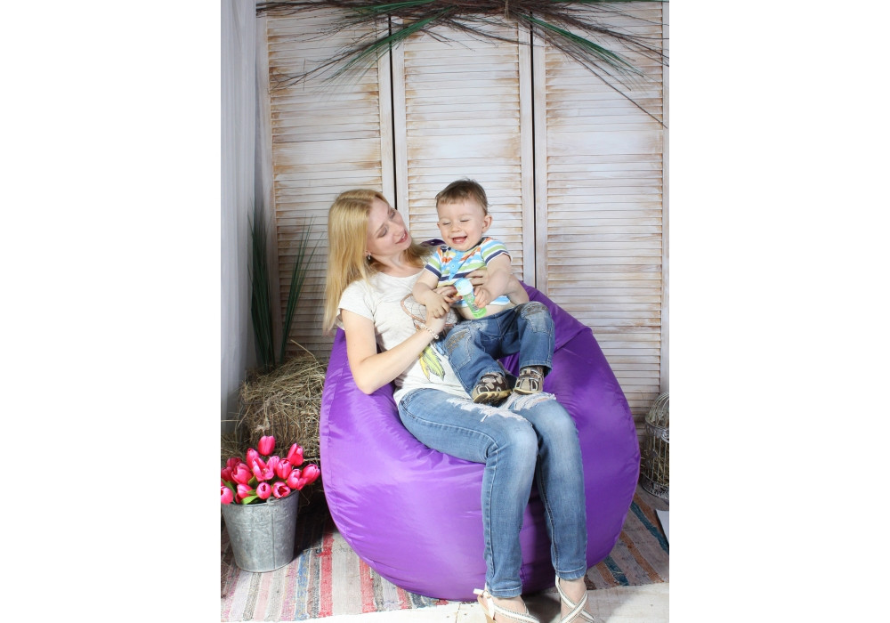 Кресло-мешок Happy Bean M фиолетовое
