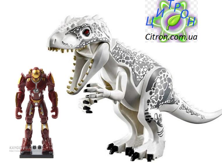 Динозавр Индоминус Длина 29 см с большой фигуркой  Лего Конструктор динозавр