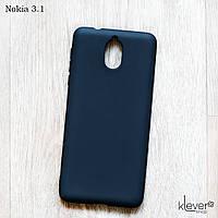 Ультратонкий силиконовый чехол Candy для Nokia 3.1 (черный)