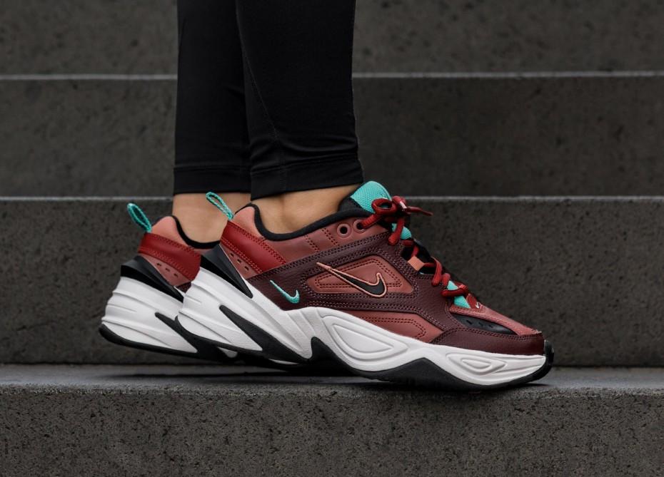 """Кроссовки Nike M2K Tekno """"Dark Brown/Turquoise"""" (Темно-коричневые)"""