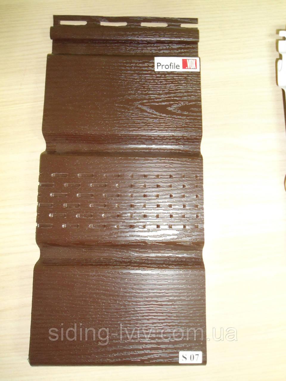 Софіт Vox Вокс коричневий перферований 3,0 м