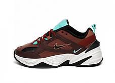 "Кроссовки Nike M2K Tekno ""Dark Brown/Turquoise"" (Темно-коричневые), фото 3"