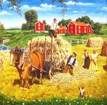 Редкая салфетка декупажная Заготовка сена 4960