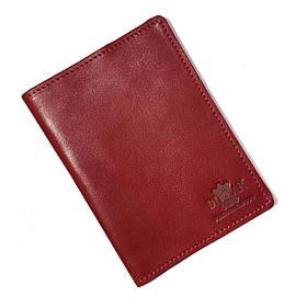 Обложка на паспорт Dizar кожа гладкая, красная