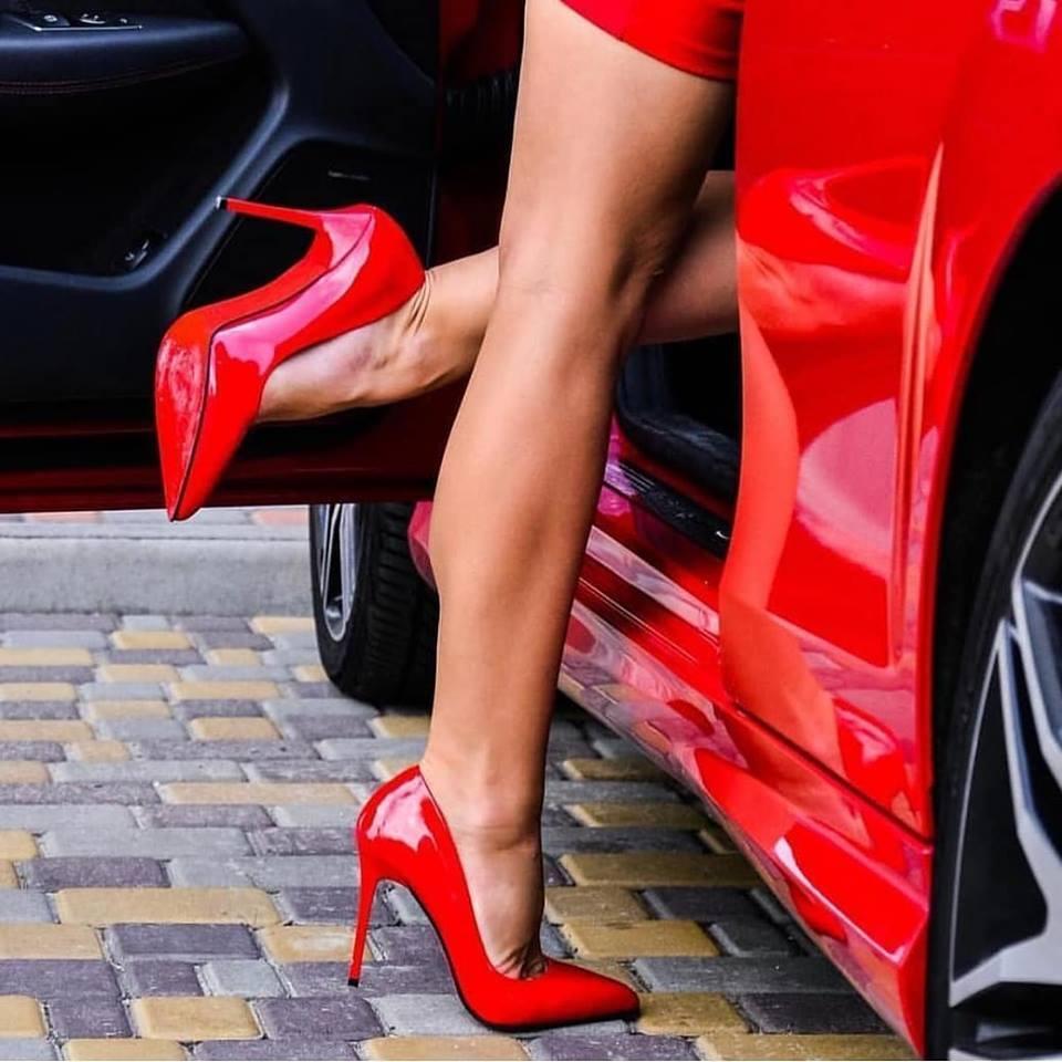 dcda7f096 Красные лодочки туфли каблук - интернет-магазин обуви
