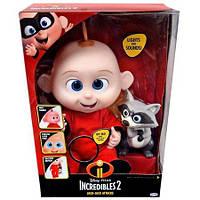 Суперсемейка 2 Джек Джек и енот Интерактивная кукла/  Incredibles 2, фото 1