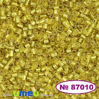 Бисер чешский Рубка №87010, 10/0, Желтый блестящий, 5 г (BIS-022174)
