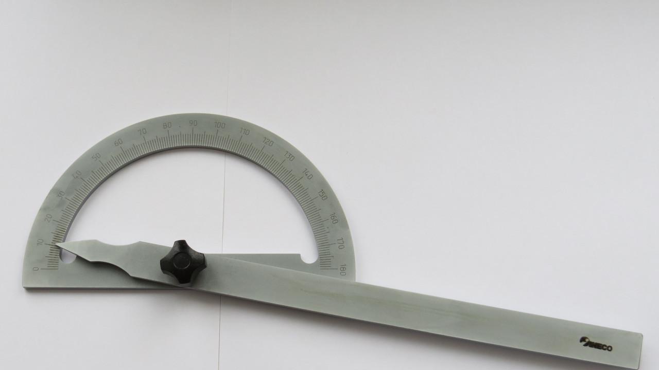 Угломер с поворотной планкой УМ-1 150-200мм